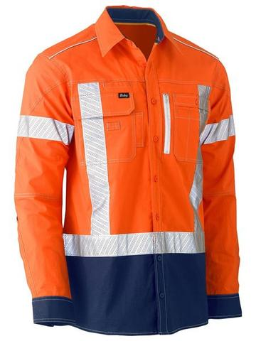 BISLEY BS6177XT Flex & Move™ Hi Vis Stretch Utility Shirt - X Taped - Workin' Gear