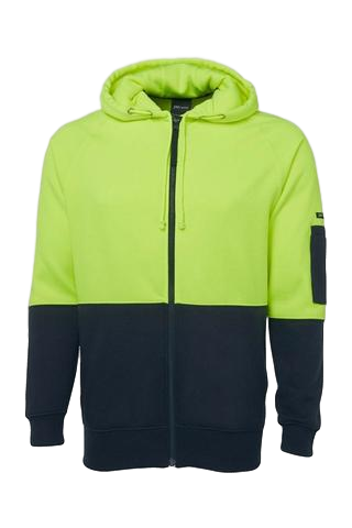 JB'S 6HVH HIVIS FULL ZIP HOODIE - Workin' Gear