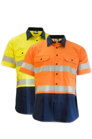 KM M2321T HIVIS TAPED SHIRT S/S