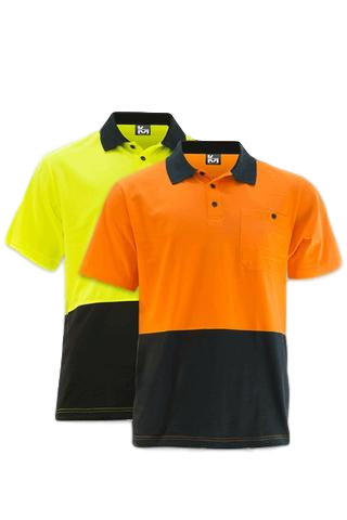 KM M1121N HIVIS S/S POLO