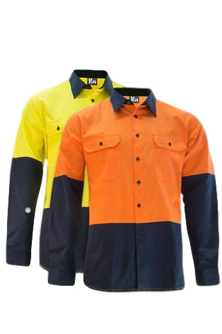 KM M2331N HiVis L/S Shirt - Workin' Gear