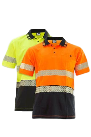 KM M1121T HiVis Segmented Taped S/S Polo - Workin' Gear