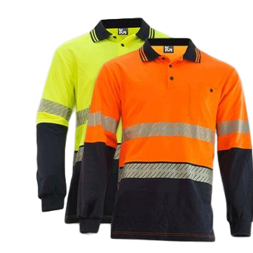 KM M1131T HIVIS TAPED L/S POLO