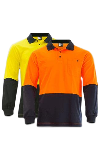 KM 1131N HIVIS L/S POLO - Workin' Gear