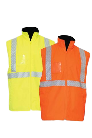 KM 5111T HI VIS FLEECE LINED WATERPROOF VEST WITH TAPE - Workin' Gear
