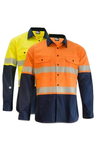 KM M2331TV HIVIS TAPED L/S SHIRT - Workin' Gear