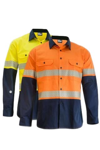KM M2331T HIVIS TAPED SHIRT L/S LIGHTWEIGHT - Workin' Gear
