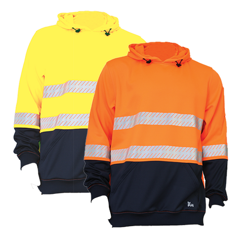 KM M3132T HiVis Pullover Fleece Hoodie with Segmented Tape - Workin' Gear