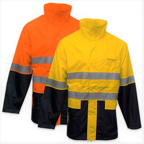 KM M5131T Hi Vi's Rain Jacket with Segmented Tape - Workin' Gear