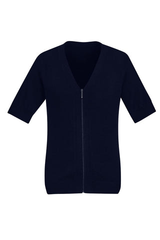 BIZCARE CK962LC Ladies Zip Front S/S Knit - 2 Colours - Workin' Gear