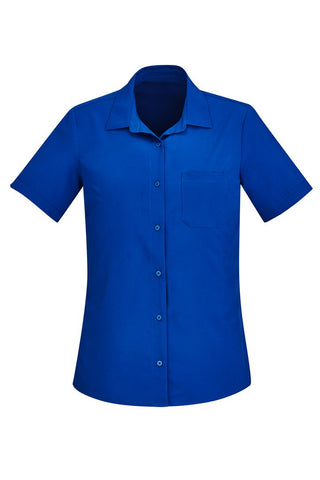 BIZCARE CL947LS  Ladies Easy Stretch S/S 4 Colours - Workin' Gear
