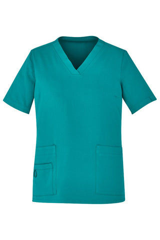 BIZCARE CST941LS Ladies Easy Fit V-Neck Scrub Top 4 Colours - Workin' Gear