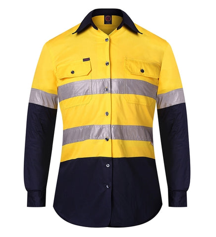 RITEMATE RM208V2R Ladies Hi Vis Vented Shirt - Workin Gear