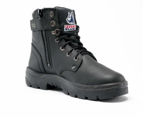 STEEL BLUE 312152 ARGYLE ZIP SIDE - BLACK - Workin' Gear