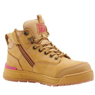 Workin Gear - HARD YAKKA Womens 3056 Lace Zip Safety Boot - Wheat
