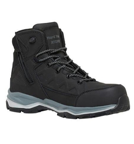 Workin Gear - HARD YAKKA Atomic Hybrid Safety Boot - Black
