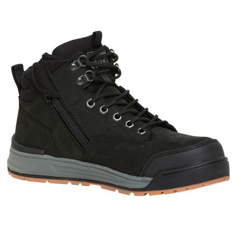 Workin Gear - HARD YAKKA 3056 Lace Zip Safety Boot - Black