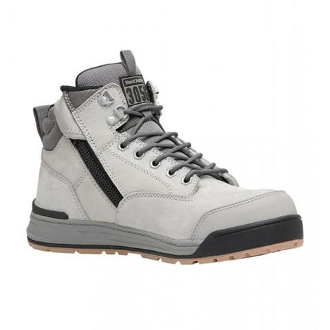 Workin Gear - HARD YAKKA 3056 Lace Zip Safety Boot - Grey