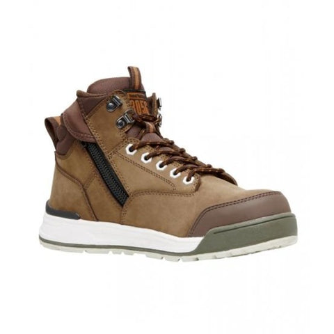 Workin Gear - HARD YAKKA 3056 Lace Zip Safety Boot - Oak