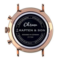 "Chrono ""Black Woven Leather"" - Kapten & Son - Japan"