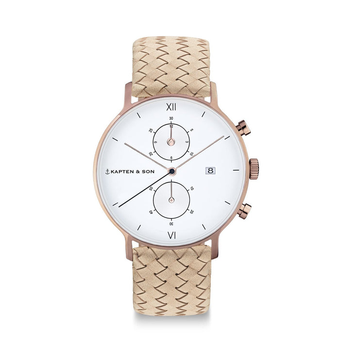 "Chrono ""Sand Woven Leather"" - Kapten & Son - Japan"