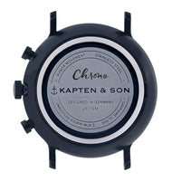 "Chrono ""Black Midnight Steel"" - Kapten & Son - Japan"