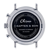 "Chrono Silver ""Blue Dark Brown Croco Leather"" - Kapten & Son - Japan"