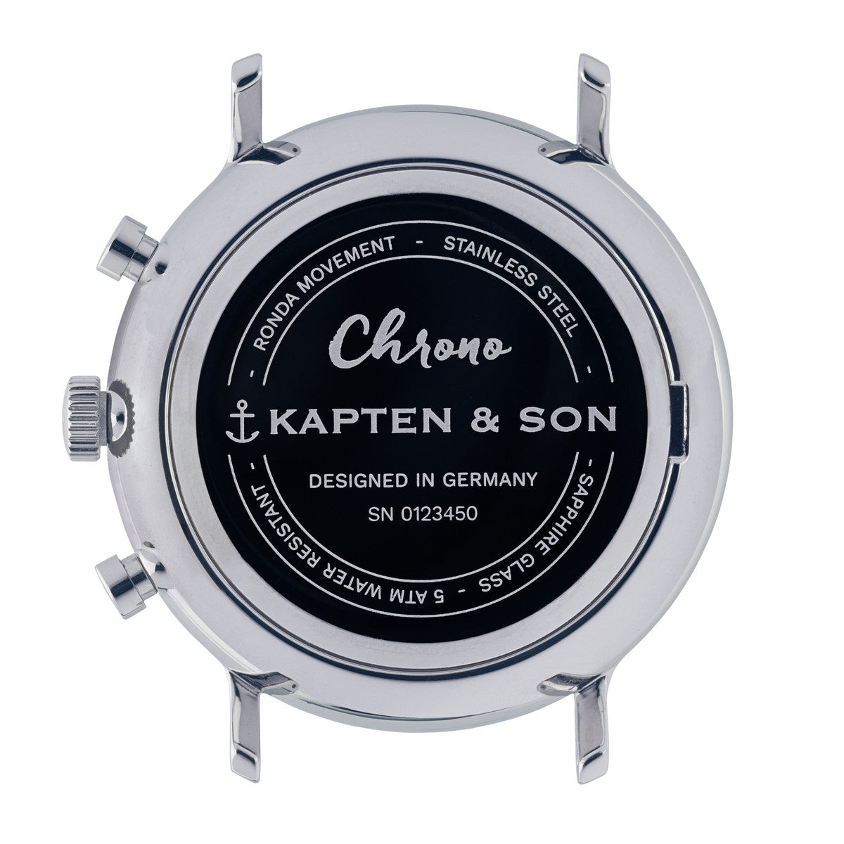 "Chrono Silver ""Black Woven Leather"" - Kapten & Son - Japan"