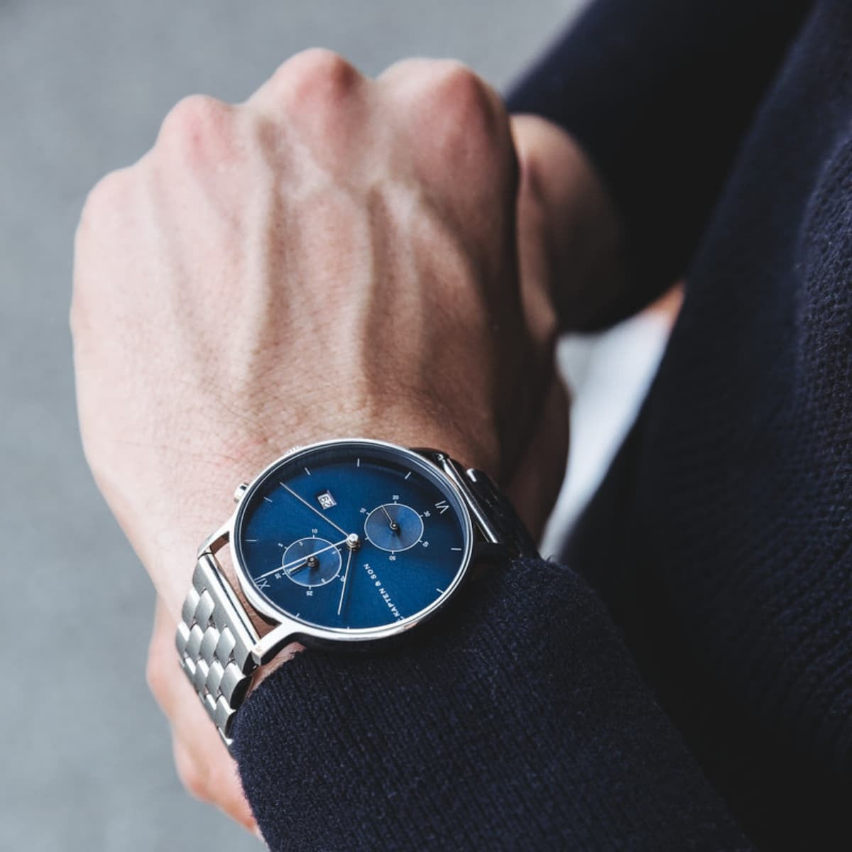 "Chrono Silver ""Blue Steel"" - Kapten & Son - Japan"