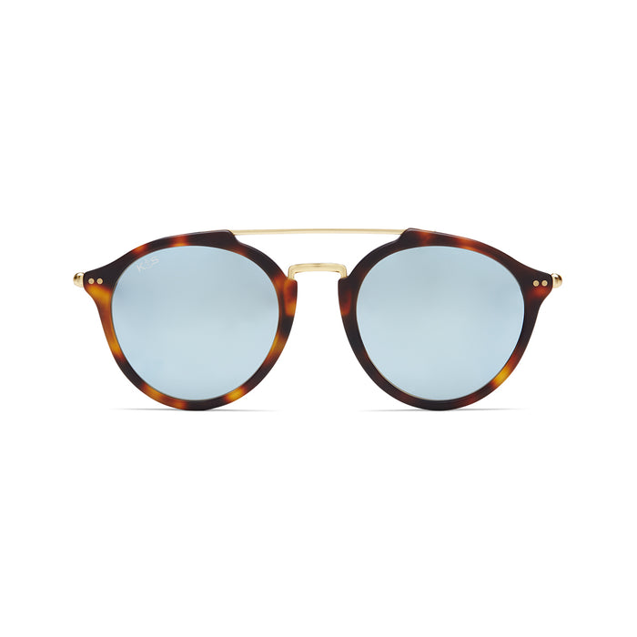 Fitzroy Matt Tortoise Blue Mirrored - Kapten & Son - Japan