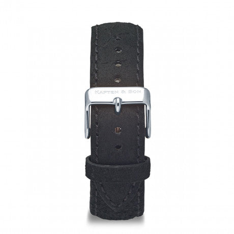 Leather Strap Black Vintage Leather - Kapten & Son - Japan