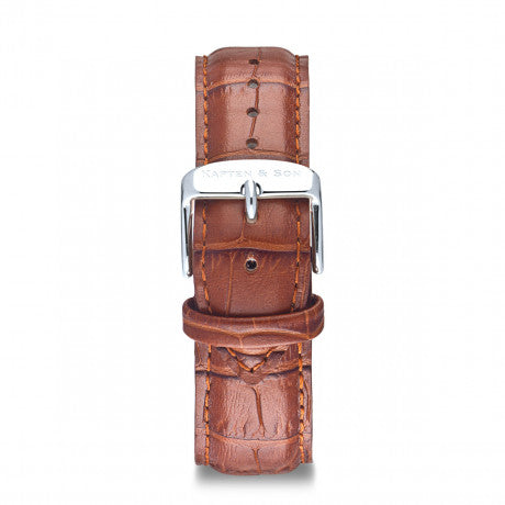 Leather Strap Brown Croco Leather - Kapten & Son - Japan