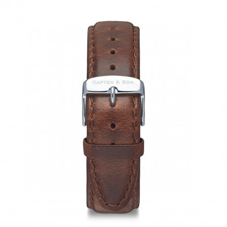 Leather Strap Brown Leather - Kapten & Son - Japan