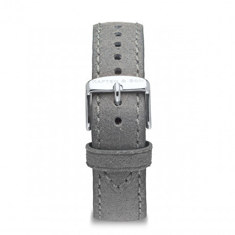 Leather Strap Grey Vintage Leather - Kapten & Son - Japan