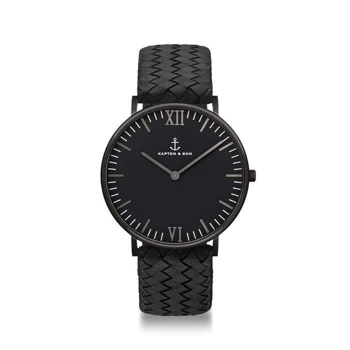 Campina Black Midnight Woven - Kapten & Son - Japan