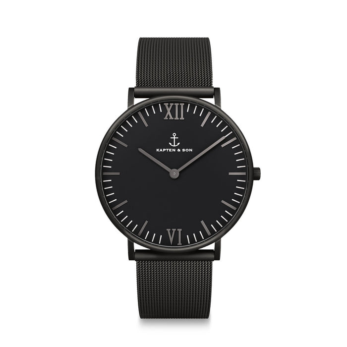 Campus Black Midnight Mesh - Kapten & Son - Japan