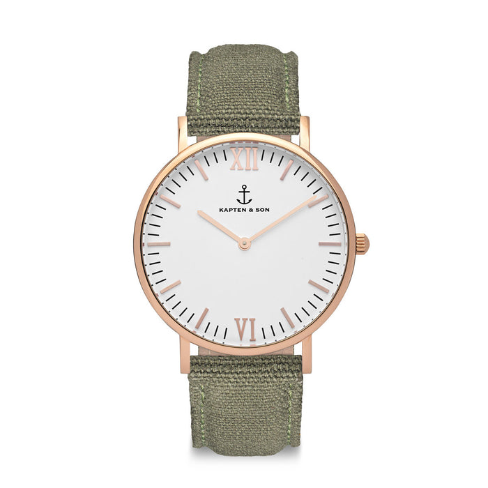 "Campus ""OLIVE"" Canvas - Kapten & Son - Japan"