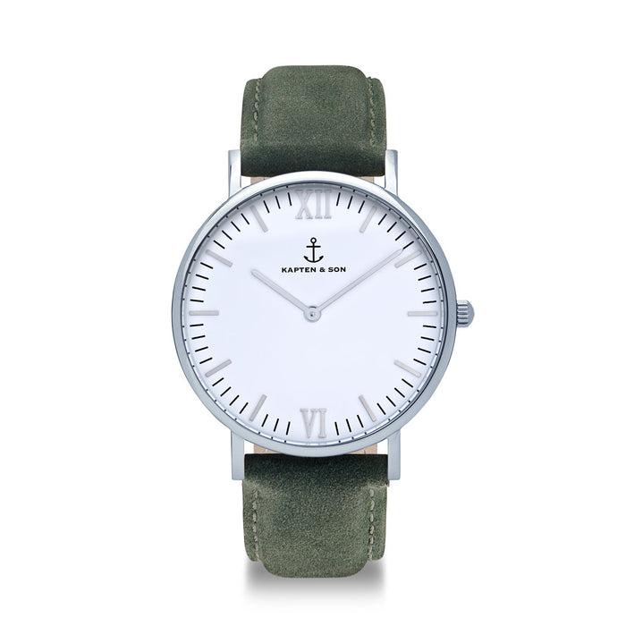 "Campus Silver ""Pine Green Suede Leather"" - Kapten & Son - Japan"