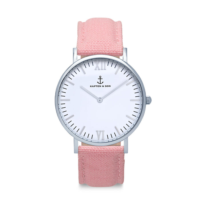 "Campus Silver ""PINK"" Canvas - Kapten & Son - Japan"