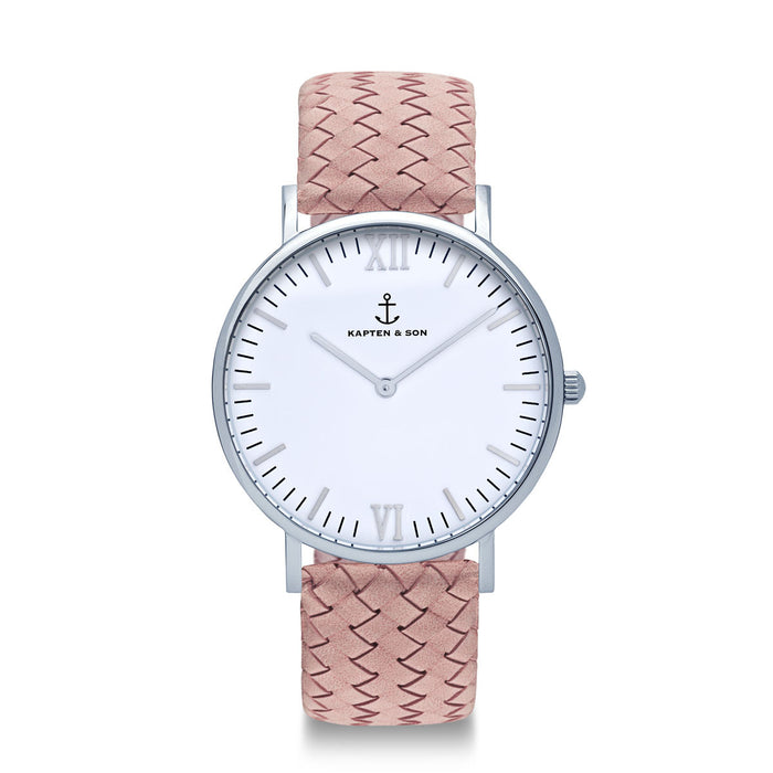 "Campus Silver ""Rose Woven Leather"" - Kapten & Son - Japan"