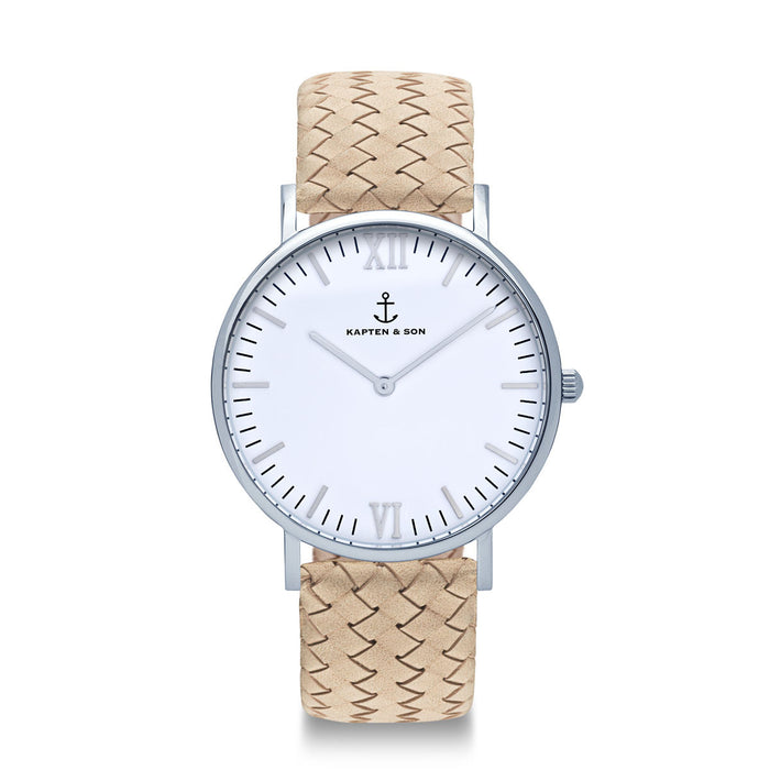 "Campus Silver ""Sand Woven Leather"" - Kapten & Son - Japan"