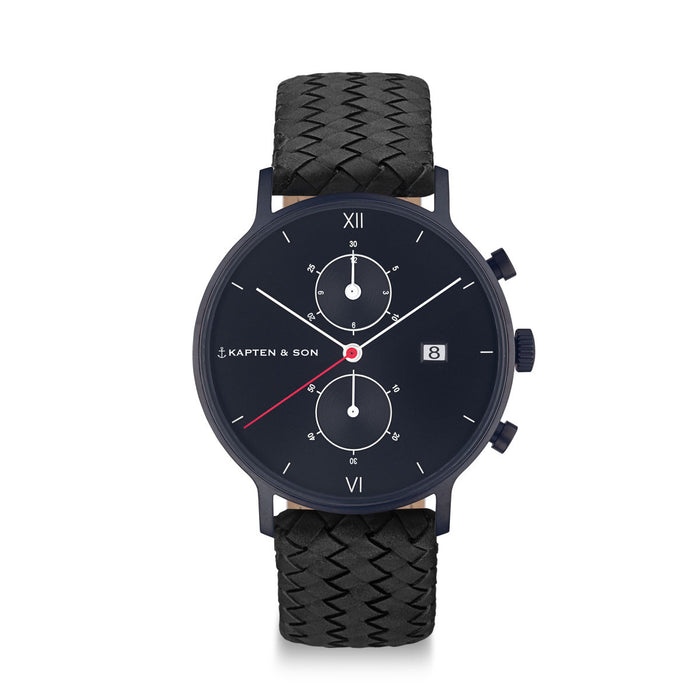 "Chrono ""Black Midnight Woven"" - Kapten & Son - Japan"