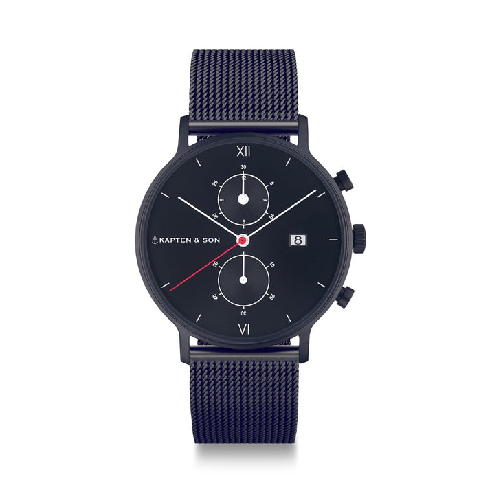 "Chrono ""Black Midnight Mesh"" - Kapten & Son - Japan"