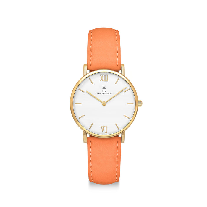 "Joy ""Peach Velvet Leather"" - Kapten & Son - Japan"