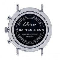 "Chrono Silver ""Blue Brown Woven Leather"" - Kapten & Son - Japan"