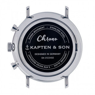 Chrono Silver Brown Woven Leather - Kapten & Son - Japan