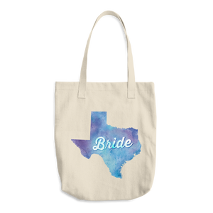 Texas Bride Cotton Tote Bag
