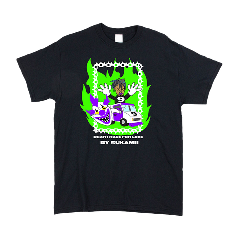 Sukamii Death Race T-Shirt (Green) + Digital Album