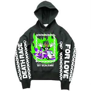 Sukamii Death Race Hoodie (Green) + Digital Album