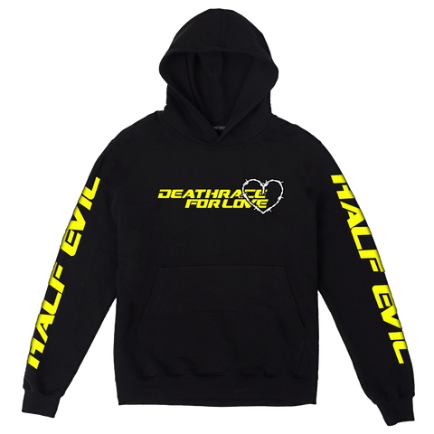 Half Evil Death Race Hoodie (Yellow) + Digital Album